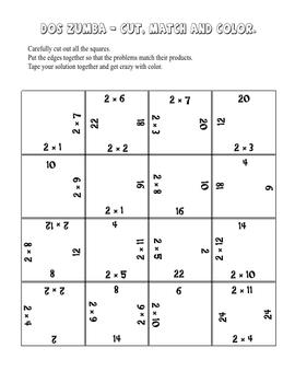 Dos Zumba Math Fact Activities - Twos