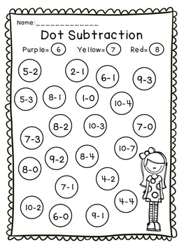 Dot-a-Dot  Numbers, Addition and Subtraction Bundle