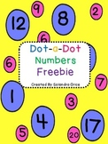Dot-a-Dot Numbers Freebie