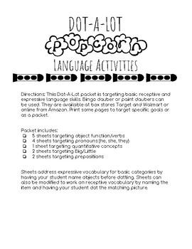 Dot-A-Lot Language Activities: Popcorn