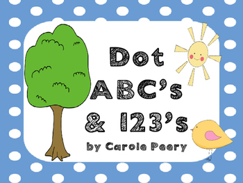 Dot ABC's & 123's Half-Size Posters