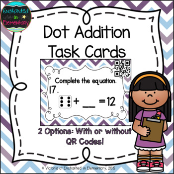 Dot Addition Task Cards: 1st Grade Common Core: Add and subtract within 20