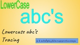 Dot Alphabet Tracing LowerCase, writing center, Workbox ac