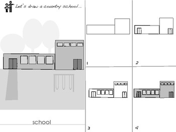 Dot And Dill Draw Almost Everything ~ Back To School ~ city and country