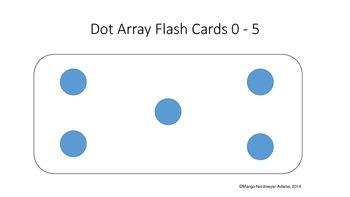 Dot Array Flash Cards 0-5