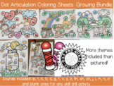 Dot Articulation Coloring Sheet Bundle - Articulation Therapy - No Preparation