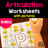 """Dot """"Artsy"""" Articulation Activities - Worksheets with Pictures - The Bundle"""