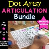 "Dot ""Artsy"" Articulation Activities - Worksheets - The Bundle"