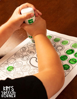 "Dot ""Artsy"" Articulation Activities - Worksheets - With Pictures"