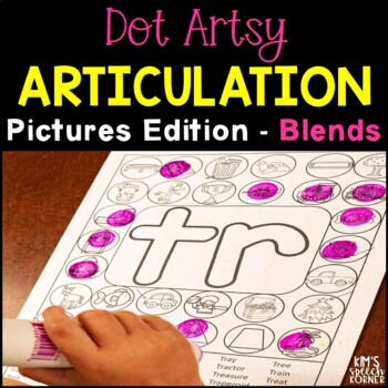 "Dot ""Artsy"" Articulation Activities - Blends Edition"