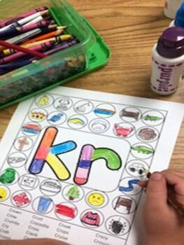 """Dot """"Artsy"""" Articulation Activities/Worksheets with Pictures - Blends Edition"""