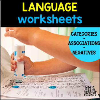 "Dot ""Artsy"" Worksheets-Language - Categories/Associations/Negatives #hotwinter"