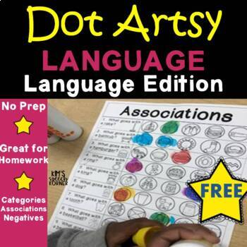 """Dot """"Artsy"""" with Pictures - Language Edition - FREE SAMPLE"""