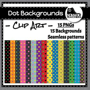 Dot Backgrounds - 15 different color combinations