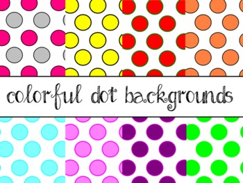 Dot Backgrounds {Commercial/Personal}