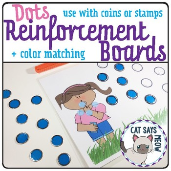 Dot Behavior Reinforcement and Color Match Mats