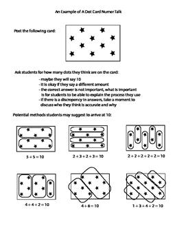 Dot Card - Number Talks