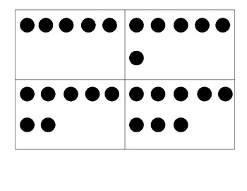 Dot Cards Common Core 1-10 Five Dot Scatter Hidden Partners Circle
