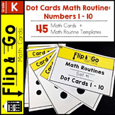 Math Warm Up | Dot Cards Math Talk Routine Numbers 1 - 10