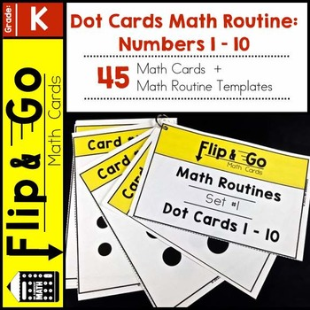 Dot Cards Math Routine Numbers 1 - 10: Set 1