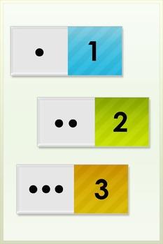 Dot Cards Number 1-30