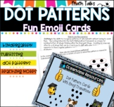 Dot  Pattern Cards- Subitising Extension with emoji transitions