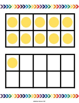 Dot Cards for Numbers 11-20