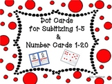 Dot Cards for Subitizing 1-5 & Number Cards 1-20