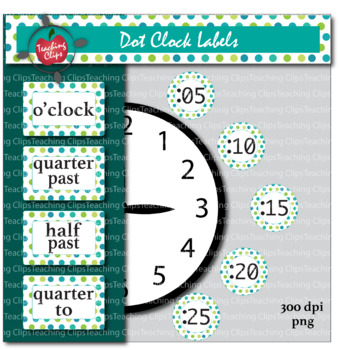 Dot Clock Labels - Daylight Pattern