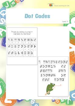Dot Codes (Visual Perception Worksheets)