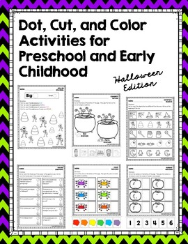 Dot, Cut, and Color Activities for Preschool and Early Childhood: Halloween