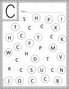 Dot Dabber Alphabet Letter Worksheets