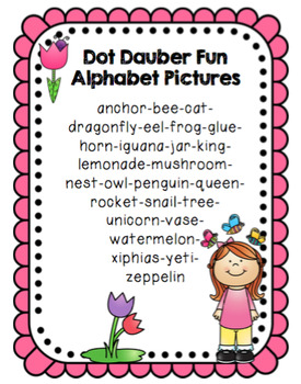 Dot Dauber Fun with Alphabet Pictures