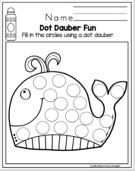 "Dot Dauber Fun with Pictures ""No Prep"""