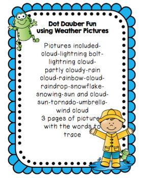 Dot Dauber Fun with Weather Pictures