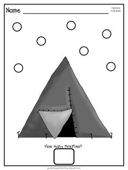 Dot Dot Not a Lot! Fine Motor ARTivity- Camping Theme