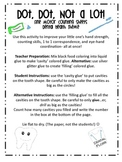 Dot Dot Not a Lot! Fine Motor ARTivity- Dental Health Theme