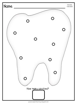 Dot Dot Not a Lot! Fine Motor ARTivity- Dental Health Theme