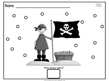 Dot Dot Not a Lot! Fine Motor ARTivity- Pirate Theme