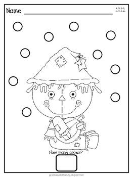 Dot Dot Not a Lot! Fine Motor ARTivity- Scarecrows Theme