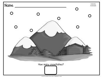 Dot Dot Not a Lot! Fine Motor ARTivity- Snow Theme