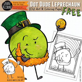 Dot Dude Leprechaun and St. Patrick's Day Coloring Page {FREE}