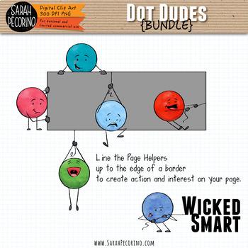 Dot Dudes Clip Art Bundle 1