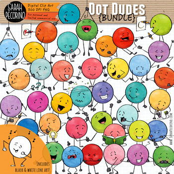Dot Dudes Clip Art Bundle