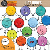 Dot Dudes Clip Art: Friends & Feelings