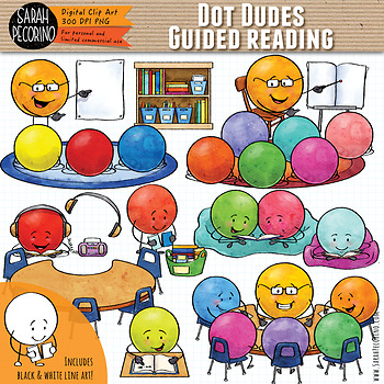 Dot Dudes Guided Reading Clip Art