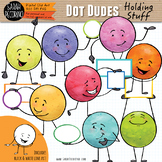 Dot Dudes Holding Stuff Clip Art
