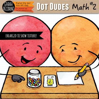 Dot Dudes Math #2 Clip Art