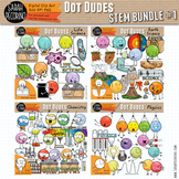 Dot Dudes STEM Clip Art Bundle 1 - Life and Earth Science, Chemistry, Physics