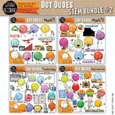 Dot Dudes STEM Clip Art Bundle 2 - MATH/Technology/Engineering